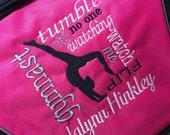 Gymnastics duffle monogrammed
