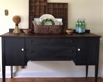 Vintage Farmhouse Style Sideboard Buffet Server rustic Annie Sloan Pick Up Only