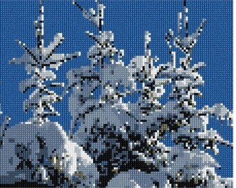 Needlepoint Kit or Canvas: Covered In Snow