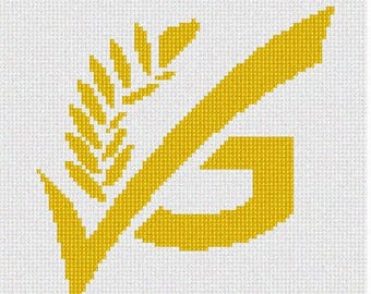 Needlepoint Kit or Canvas: Gluten Free