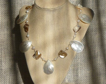 Mother of Pearl & Shell Necklace