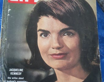 Old Life Magazine,vintage Life Magazine Jacqueline Kennedy ( 1964 ) John f Kennedy mementos