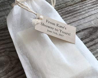 Handmade Custom Full Size Soap Favors, Wedding favors, shower favors, Natural soap, Organic, full size soap bars, muslin bag, custom label