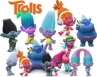 Best collection of 90 TROLLS clipart - 90 high quality TROLLS CLIPART - 90 Trolls Graphics !!! Four beautiful frames included !!!