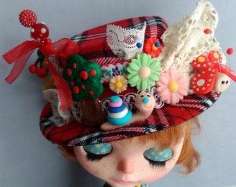 Reserved - Top Hat,set Shorts balloon and grunge style Coat , set Dress + leggings for Blythe or similar dolls  ooak