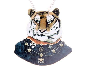 Necklace Mr Tigre wooden