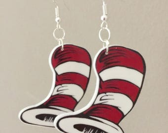 Cat in the Hat Earrings