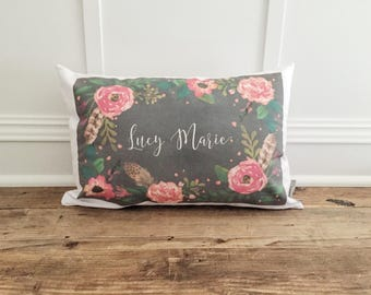 Custom Name Chalkboard Pillow Cover