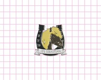 Li'l Sebastian enamel pin Leslie Knope, Ron Swanson, 5000 candles in the wind My pretty pony, Horse, lapel pin