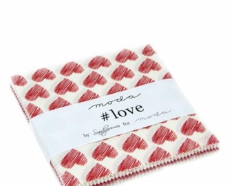 Love Charm Pack 5 inch Squares from Moda Fabric