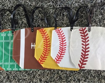 Large Football, Basketball, Baseball or Softball Totes