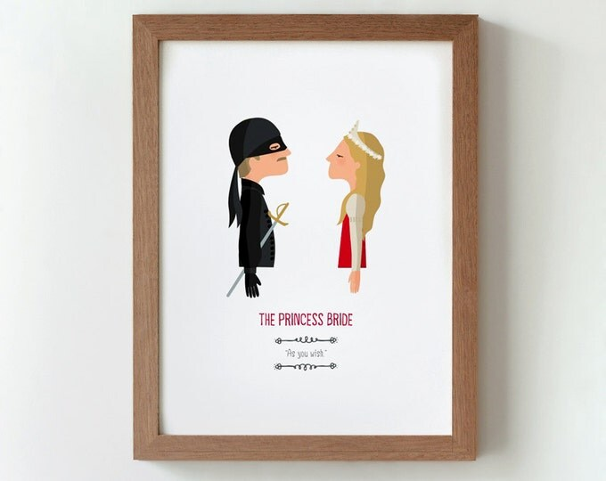 Illustration, print, The Princess Bride, Tutticonfetti, Wall art, Art decor, Hanging wall, Printed art, Decor home, Gift idea,Sweet home