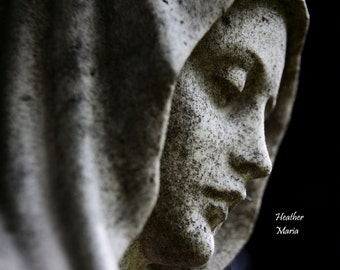 Mary, historic cemetery statue, fine art photography