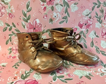 Baby Shoes Bronzed Collectibles Memorabilia Antiqued Baby Shoes  Vintage Baby Shoes On ETSY By Timelesscuriosities