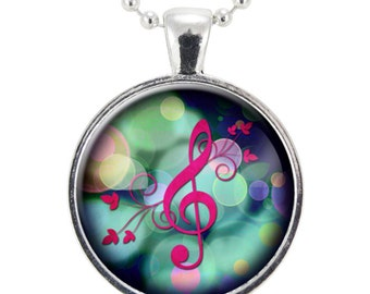 G-Clef Necklace, Music Note Jewelry (0892S25MMBC)