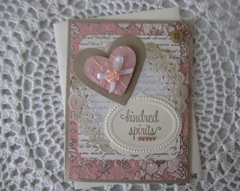Handmade Greeting Card: Kindred Spirits (Valentine's Day/Love/WeddingAnniversary)