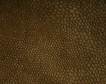 "Brown Microsuede With Snakeskin Pattern Fabric 58""/60"" Per Yard"
