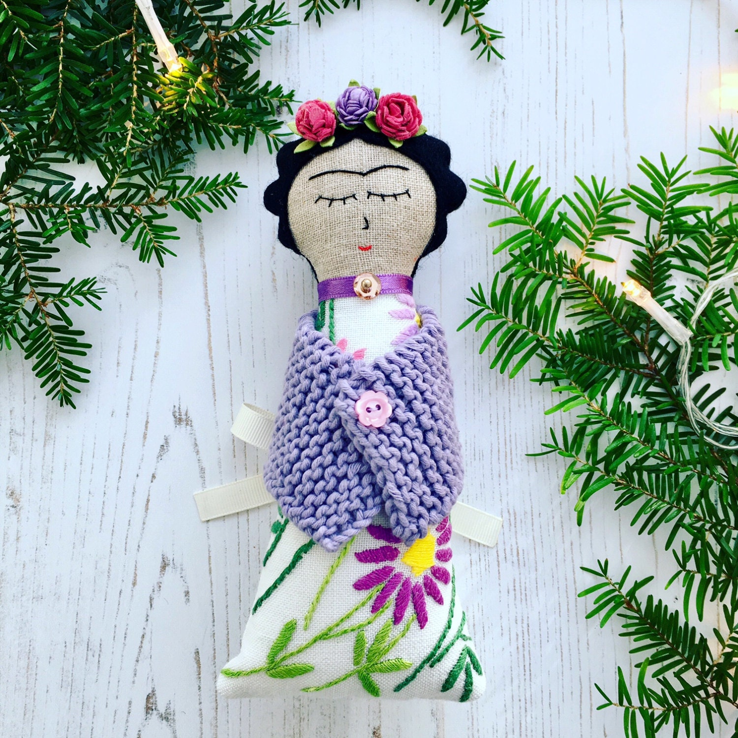 Frida Alternative Christmas Tree Topper / Ornament / Fairy