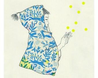 "A5 A4 A3 Art print ""Mago"" (Kinu serie) (limited edition)"