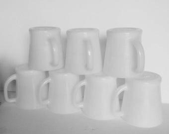 Vintage Fire King Mugs lot of 7 white mug