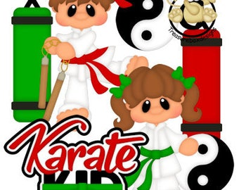 Karate die cuts, scrapbook die cuts, scrapbooking die cuts, karate scrapbook embellishments, scrapbook, children die cuts, card making