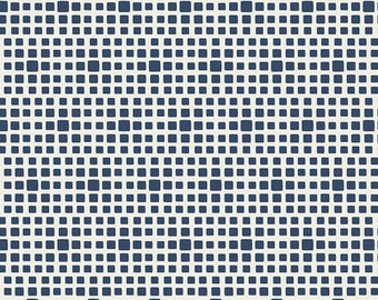 Squared Elements by Art Gallery Fabrics, Navy, SE-611