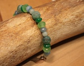 Shades of green bracelet - Heart balance and healing
