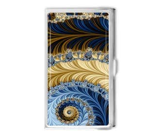 Fractal 4 Business Card Holder - Choose Personalized or Not Card Case Business Card Case Gift Idea - Office Supplies - Credit Card Holder -