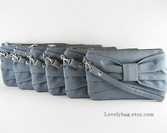 SALE - Gray Clutch / Bridal Clutch / Bridesmaids Clutch / Wedding Clutch | 9.90 USD per piece.