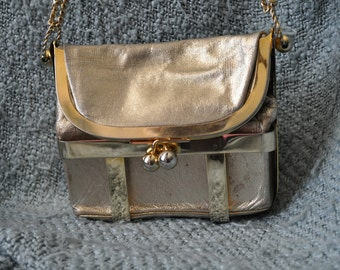 Harry Rosenfeld vintage kisslock leather French purse 1950s-60s