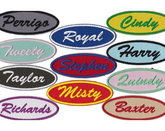 Embroidered Patch Custom Patch Name Patch  Personalized Name Patch Name Tag