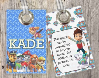 Paw Patrol - Custom Tags for Backpacks, Luggage, Diaper Bags & More!