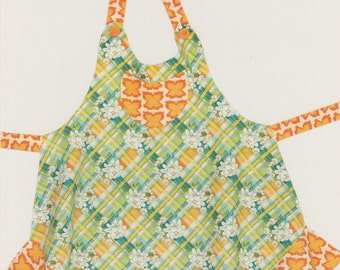 Sassy Plus Size Apron Pattern, Cabbage Rose, DIY Sewing