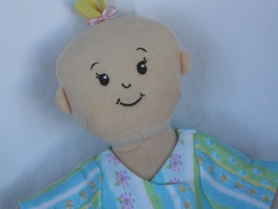 Pajamas fits WEE Baby Stella Dolls-Blue and Green Stripe