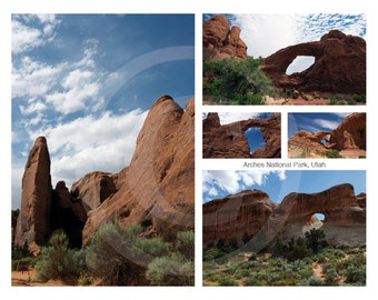 Arches National Park Collage Cardstock Poster, 11x14