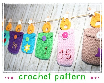 Mini Candle Bag - Advent Calendar - Gift Tag - Crochet Pattern