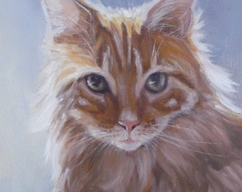 Realistic Pet Portrait - 100% Hand-Painted CUSTOM Oil Painting