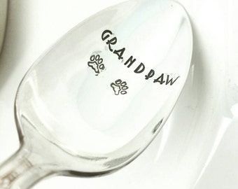 Grandpaw Coffee Stamped Spoon Gift Pet Lover, Fur Kid Gift, Gift from Dog