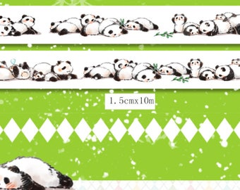 1 Roll of Limited Edition Washi Roll- Pandas