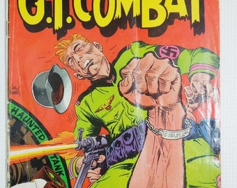 ON SALE G.I. Combat Comic Book. Dc. National Comics. Number 122. February - March 1967. Collectible Comics for Manly Men.