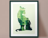 The Last Guardian Art Print Game Poster Trico Silhouette