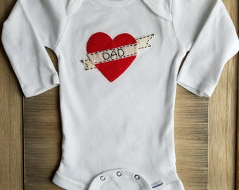 Baby's first valentine's day outfit, first father's day, Mommy's first valentine, Daddy's first valentine, Baby Love