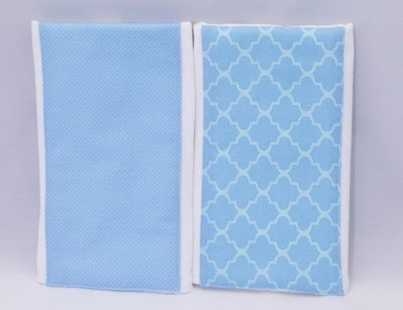 Set of 2 Cute Blue Burp Cloths for Him