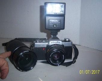Minolta XG1 Camera Flash Lens Bundle Photo Picture