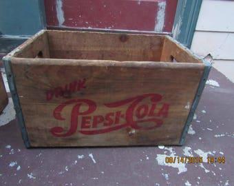 1940's  Pepsi Cola Soda Tonic Crate Box No 1