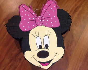 Mickey and Minnie Mouse Head Pinatas