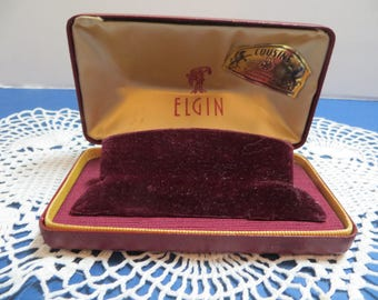 Vintage Elgin Watch Presentation Box