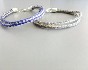 FOR MEN BRACELET, gift for boy, men fiber bracelet, for him jewelry, fabric minimalist bracelet, personalized bracelet for men