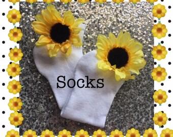 Socks*Girls Socks *Custom Socks*Sunflower Socks*Toddler Socks*Beauty Pageant Socks* Wedding Socks*Girls Flower Socks*Flower Socks*