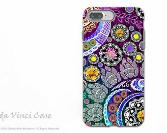 Indian Paisley iPhone 7 PLUS Tough Case - Dual Layer Protection - Colorful Floral Apple iPhone 7 PLUS Case - Mehndi Garden